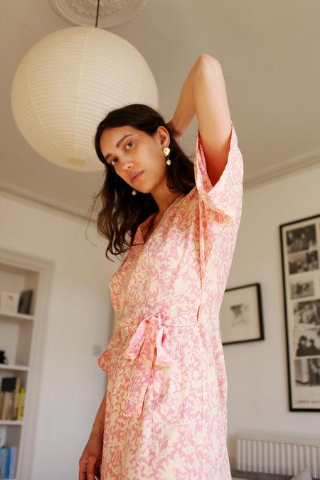 Natalie Martin Georgia Kimono Dress - Pink Orchid