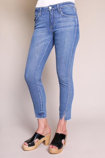 amo denim Twist Skinny Crop Jean - Blue Jay
