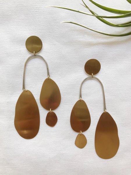 Laura Estrada Cascada Earrings - Brass