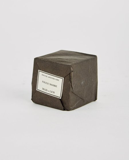 Mad et Len Figue Noire Bloc Candle - Black