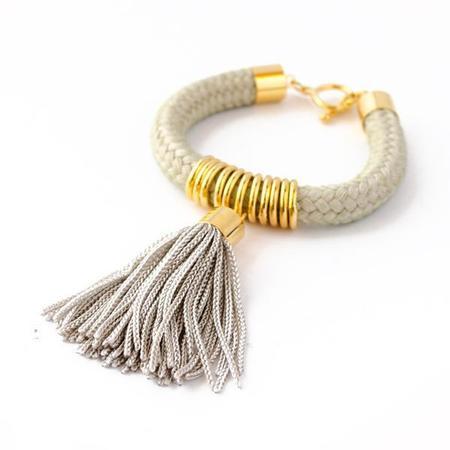 Reason To Be Pretty Cord Tassel Bracelet