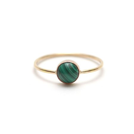 Favor Gumdrop Ring - Malachite