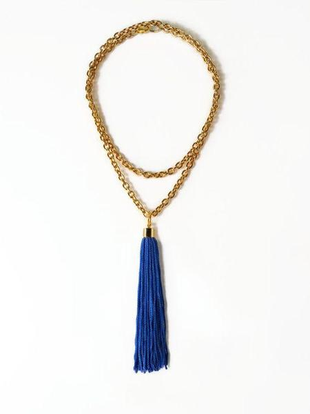 Reason To Be Pretty Long Layered Chain Tassel Necklace