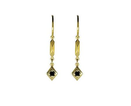 Holly Howe Pillar and Stone Hoops - Gold