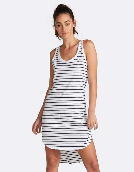 Jac + Mooki Polly Stripe Dress - White Stripe