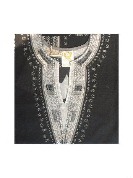 En Shallah African Shirt - Black/Grey