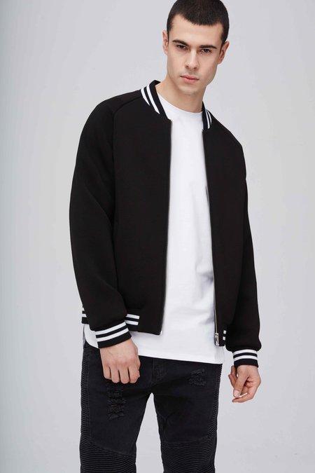 Classic Varsity Jacket - Black