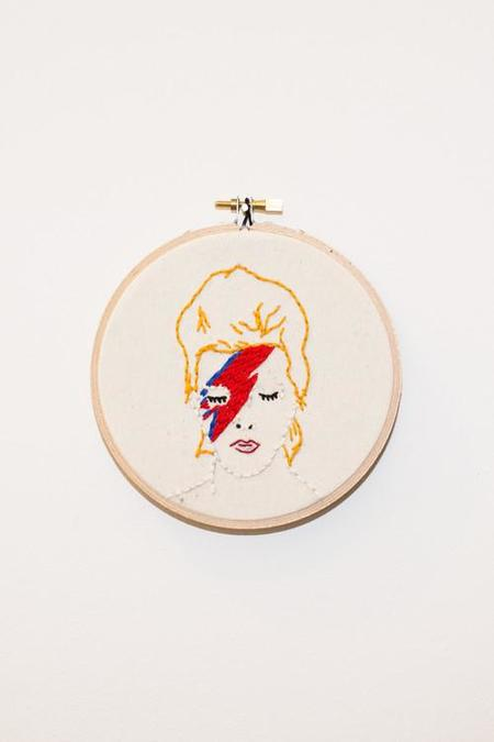 Koe-Zee David Bowie Embroidery