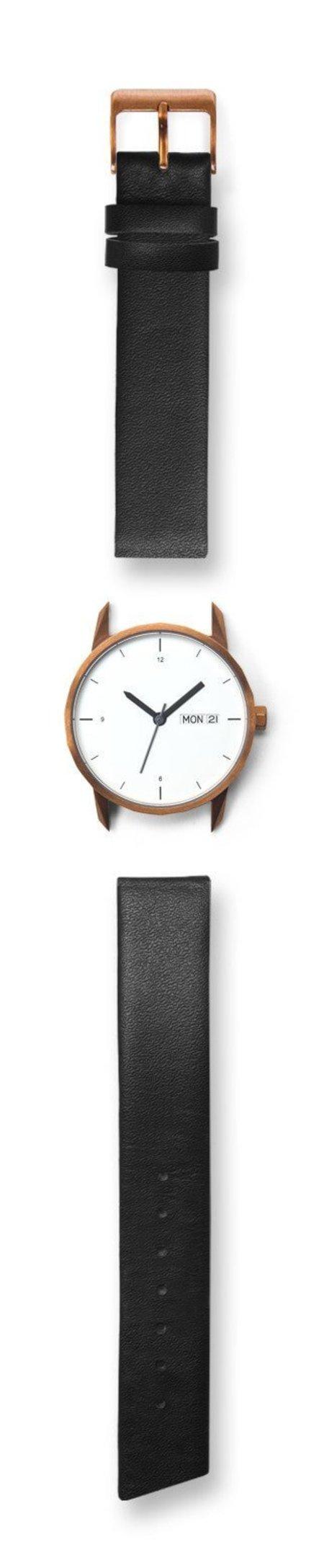 Tinker Watches 34mm Copper Watch Black Standard Strap