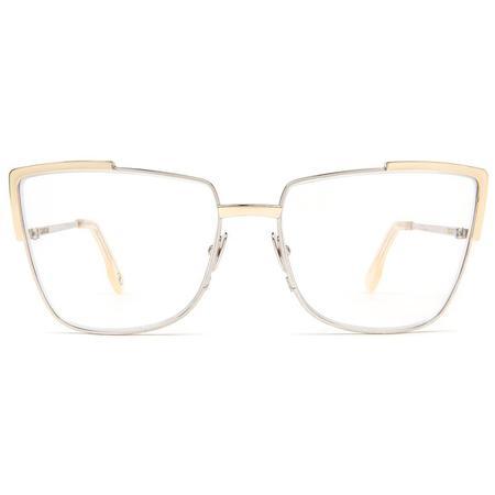 Zanzan Totto Optical Frame - Silver/Gold