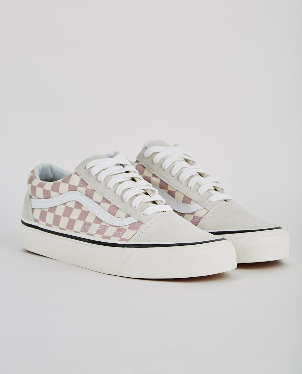 2e5ee1fc847ee9 VANS AUTHENTIC 36 DX ANAHEIM FACTORY OLD SKOOL - MAUVE CHECKERBOARD ...