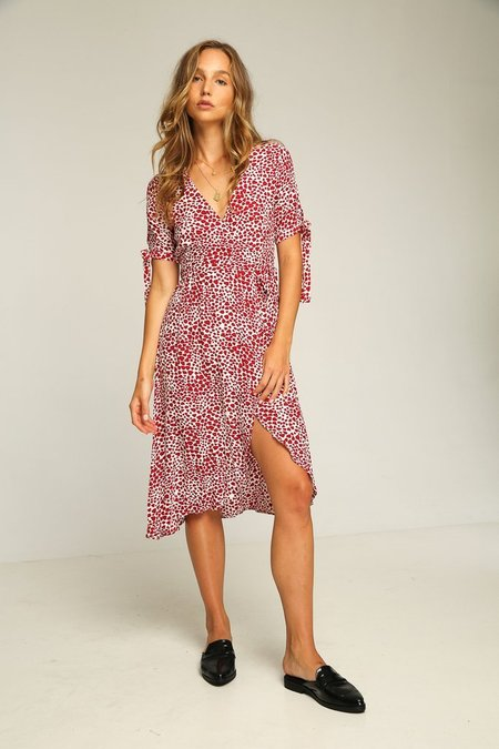 Rue Stiic Albany Wrap Dress - Heart Print