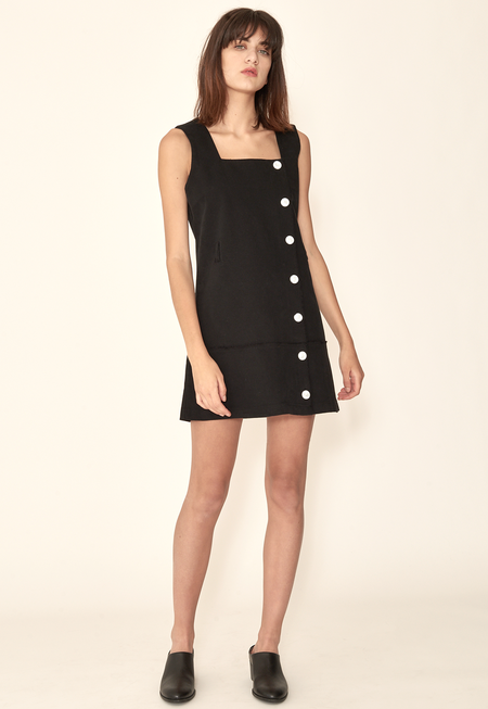 Outstanding Ordinary Button Dress - Black
