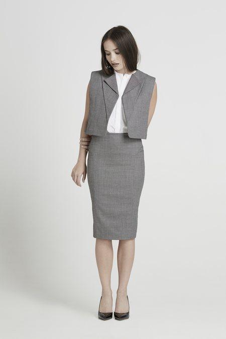 Elisa C-rossow Loon Vest - Black/White