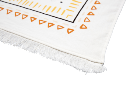 The Beach People Wanderer Travel Towel - Ivory with burnt orange