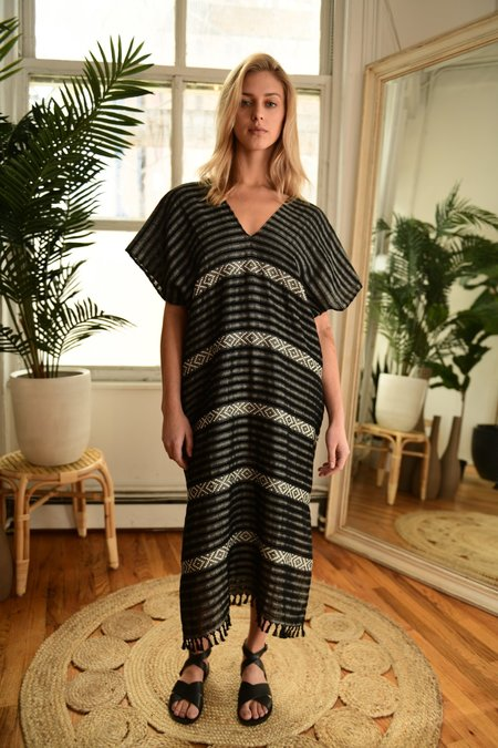 Wax & Cruz Maxi XO Caftan - Black