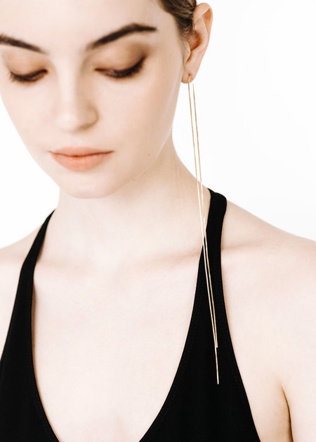 ROQUE JEWELRY The Line Earring - GOLD