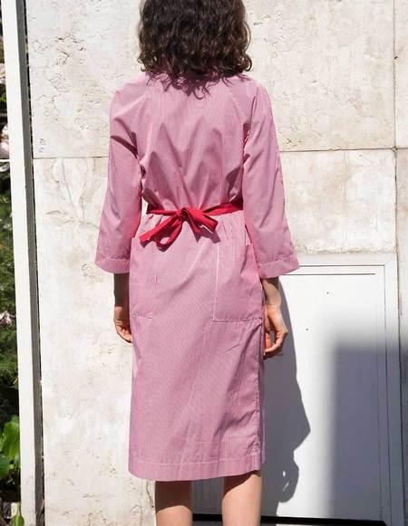 Asciari Milano Marsili Striped Kimono Dress