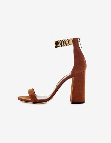 Marskinryyppy Perpetua Gold Rolex Sandals - Cognac