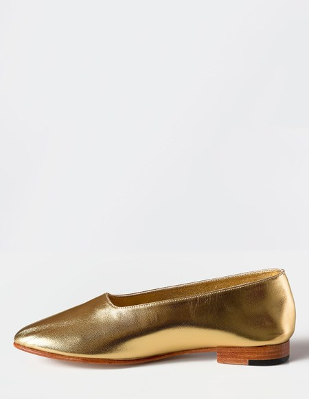Martiniano Glove Flats - Gold