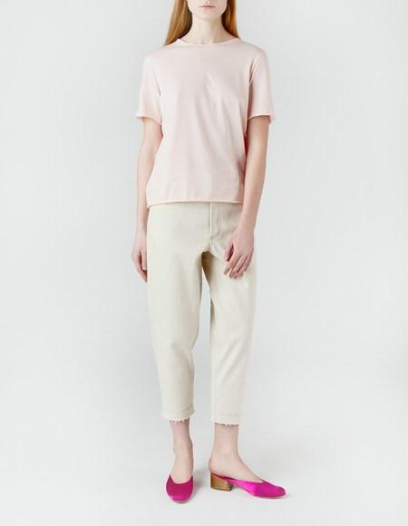 Laquintane Raw Edge T-Shirt - Light Pink