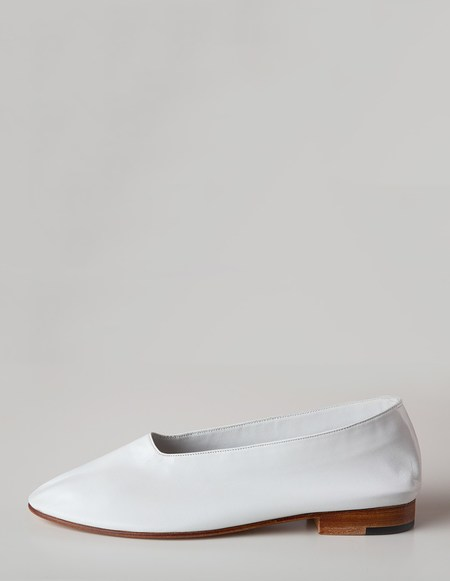 Martiniano Glove Flats - White