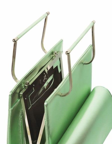 Hugo Matha Plexi Silver Green Aymeline Bag