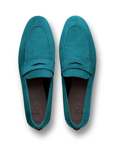 Bougeotte Petroleum Suede Flaneur Loafer