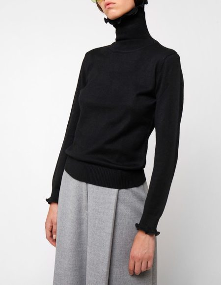 Peet Dullaert Knit Turtleneck Zen-Line Sweater - Black