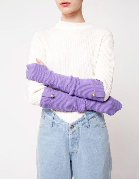Bonnie's Long Eco-friendly Cashmere Arm Warmers - Purple