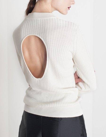 Etienne Deroeux Anna Wool Sweater - White