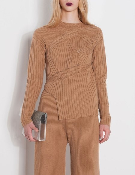 Ms Min Alpaca Sweater -  Tan