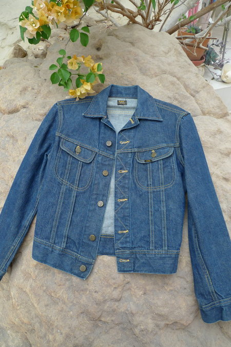 Unisex 1960's Vintage Lee 101J Denim Jacket - Blue