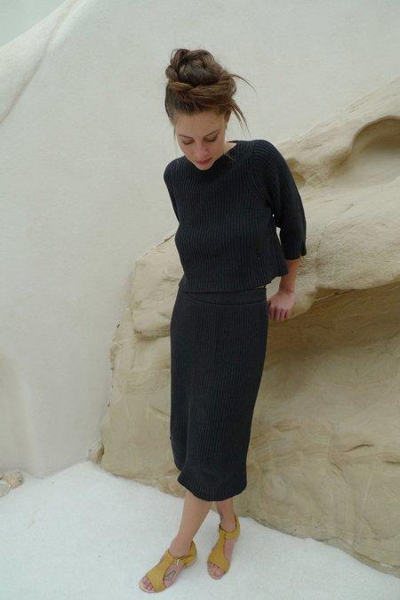 A Détacher Magnolia Skirt - BLACK