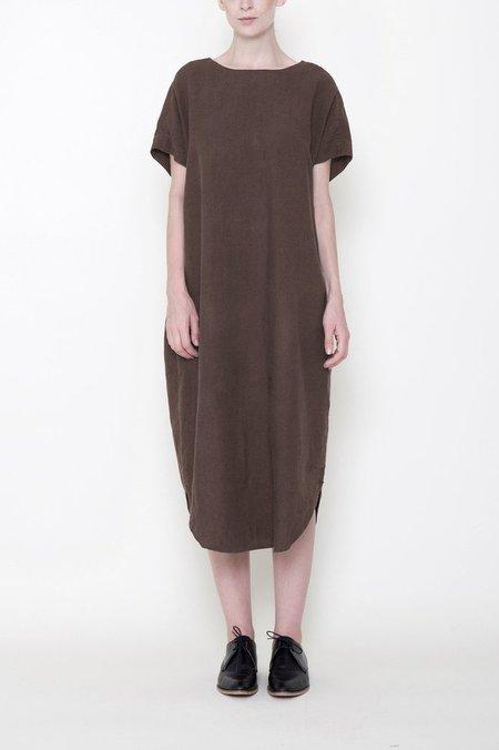 7115 by Szeki Reversible Linen T-Shirt Dress - Moss