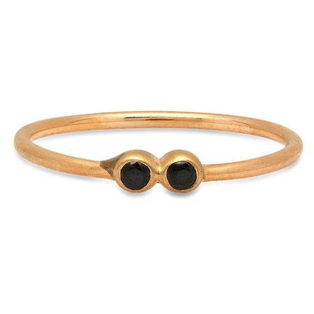 Studio Grun Double Crown Ring - Bronze + Black Spinel