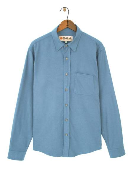 Mollusk One Pocket Shirt - Light Indigo
