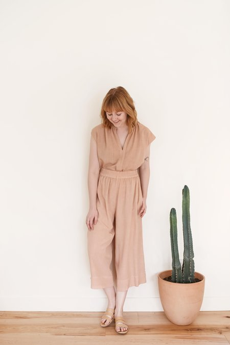 The Odells Cropped Culottes - Latte