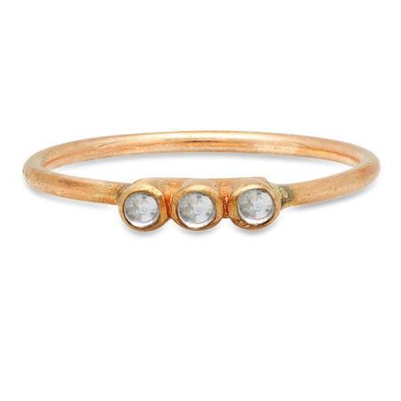 Studio Grun Triple Crown Ring - Bronze + Moonstone