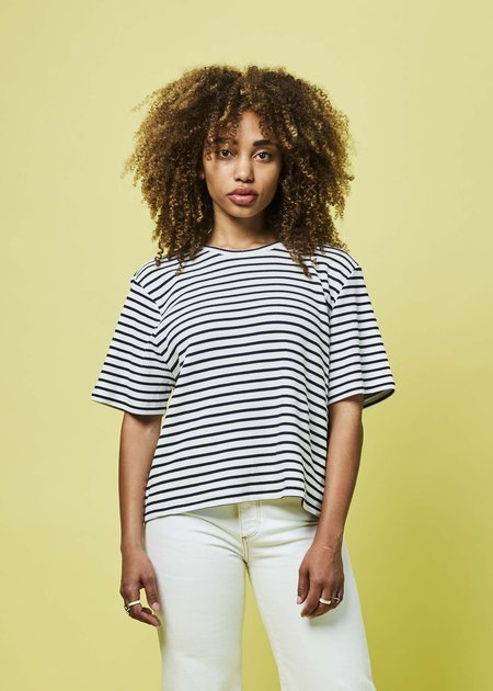 Sibel Saral G1 Wide Sleeve Tee - white/navy stripe