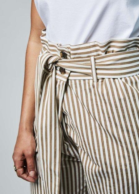 NICO Ipanema Tie Trouser - taupe/white