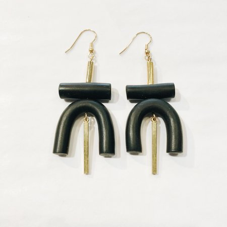Sonia Gracia Handmade U Earrings - Black