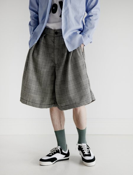 Comme des Garçons Pleated Shorts - Houndstooth Check