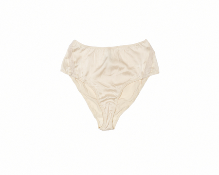 BLAM High Waist Organic Silk Brief - Champagne