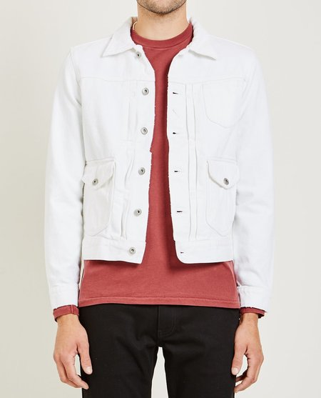 321 BULL DENIM JACKET - OPTIC WHITE