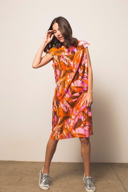 Preservation Shift Dress - Pink + Orange