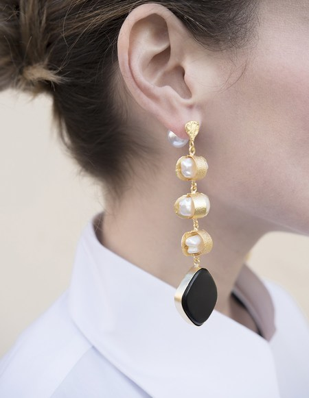 Ellipsee x Masha Reva Eolian Gold Black Earring