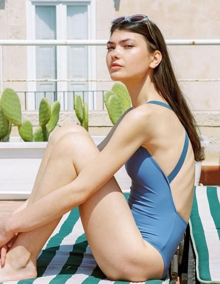 Aere Store One Swimsuit - Cornflower