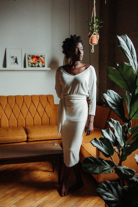 Eve Gravel Les Noces Dress - White