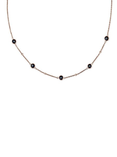 Jacquie Aiche 4 Diamond 5 Eye Necklace - Yellow Gold